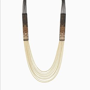 Jasper Ombré Necklace - Black and Gold